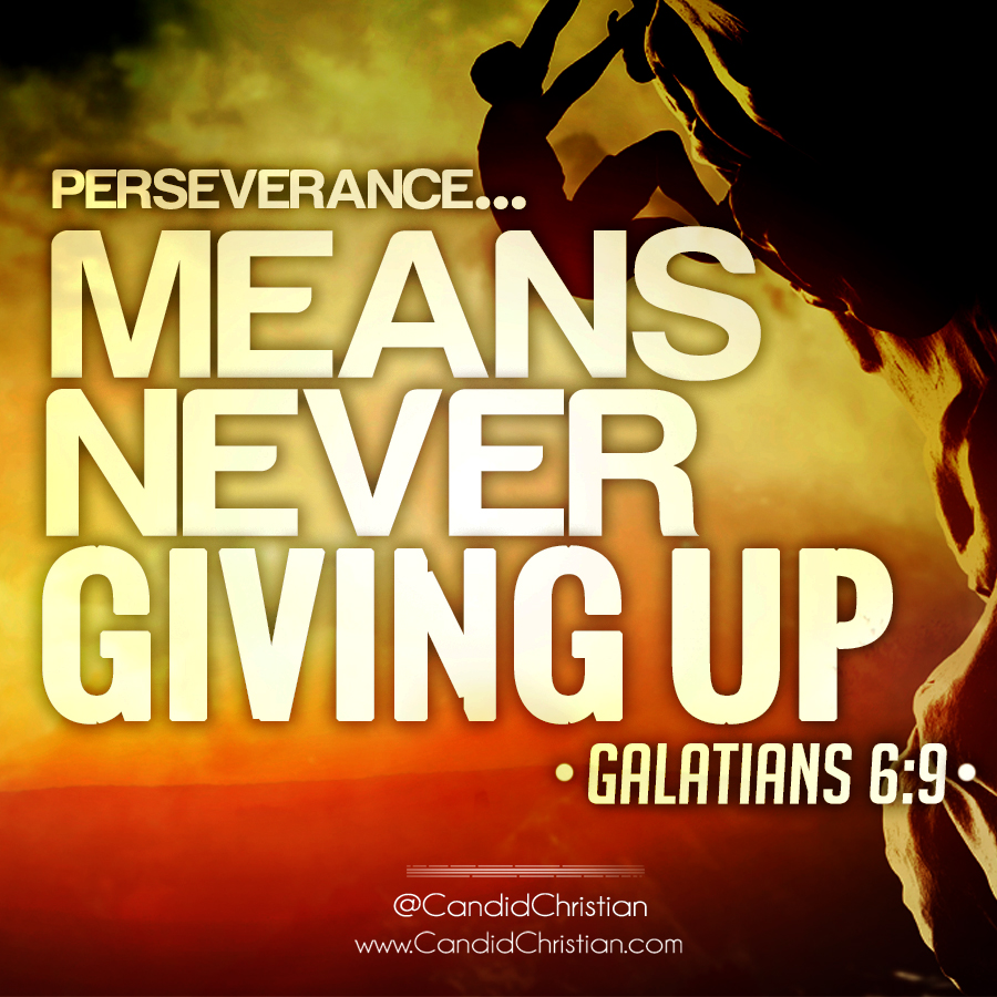 Perseverance means never giving up