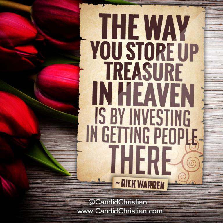 Storing Treasures in Heaven