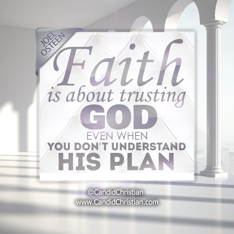 Faith is about Trusting God