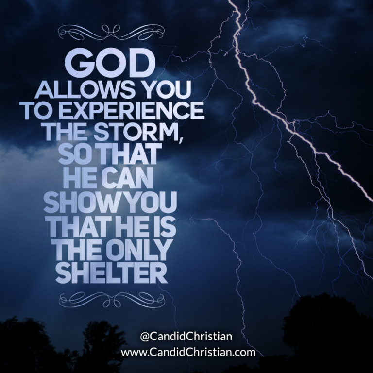 God Allows You to Experience the Storm