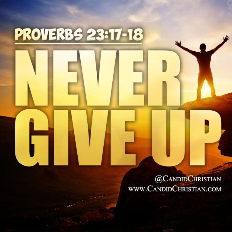 Proverbs - Never Give Up
